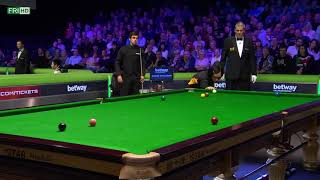 Ronnie o'sullivan Vs Akani the Drama frame last 16 UK championship 2017
