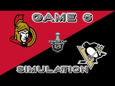 Pittsburgh Penguins vs Ottawa Senators Game 6 NHL 17 Simulation (PS4)
