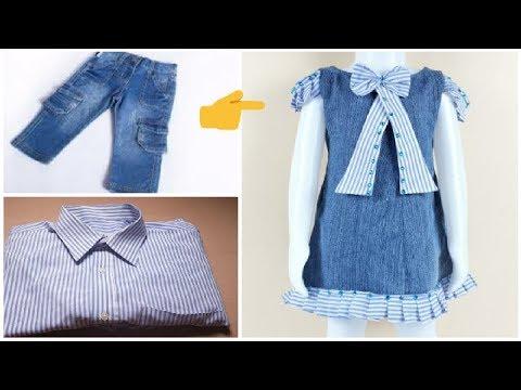 c09ae737d8d26 خياطة فستان طفله من بنطلون جينز قديم بكل بساطة 👗 - Action.News ABC ...