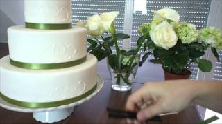 Montieren von echten Blumen auf Torten - Echte Blumen auf Hochzeitstorten - von Kuchenfee