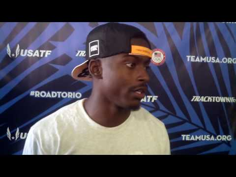 Trayvon Bromell talks after making 2016 US Olympic team in men