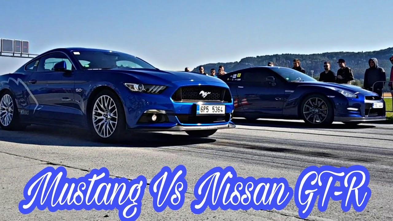 Nissan gt r vs ford mustang drag race automotosprint cr 30 9 2017 nissan gtr jaguar f type dodge srt