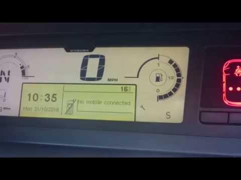Citroen C4 Picasso Service Light Reset