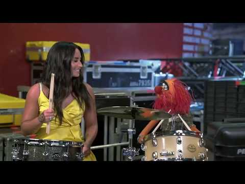 Demi Lovato And Animal Drumming