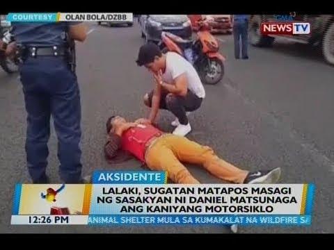 BT: Lalaki, sugatan matapos masagi ng sasakyan ni Daniel Matsunaga ang kaniyang motorsiklo