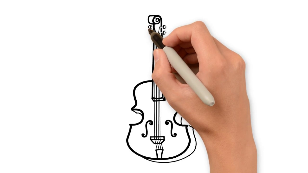 How To Draw Double Bass