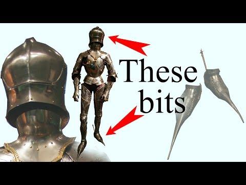Gothic 15th century helmet and sabatons