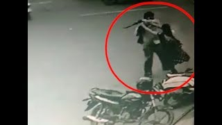 On cam: Father stabs daughter, son-in-law for marrying against his wishes