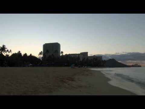 RAW Footage of Sunrise over Diamond Head and Waikiki Viewed from Hilton Hawaiian Village March 2015