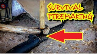 HOW TO light a fire!! - No lighter - No matches - PRIMITIVE TECHNOLOGY only!!!