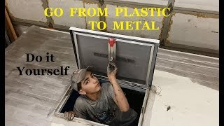 Make your RV vents or escape hatch out of metal, EASY, for less