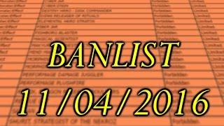 Banlist 11/04/2016 - Yu-Gi-Oh! Oportunidades de Jogar Competitivo!
