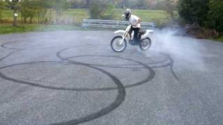dirtbike burnout