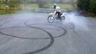 dirtbike burnout