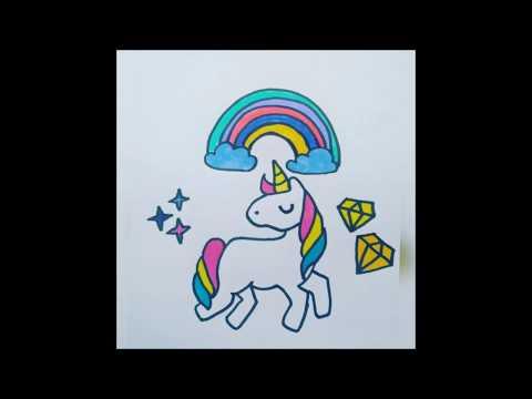 Dibujo Unicornio Facil Unicornio Tumblr Easy Unicorn Drawing