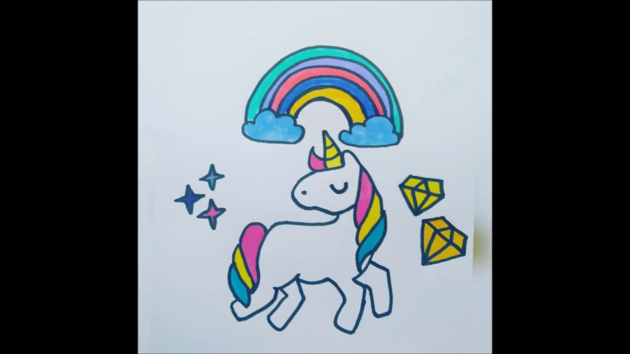 Dibujo Unicornio Facil Unicornio Tumblr Easy Unicorn Drawing