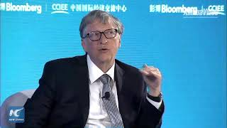 Bill Gates discusses impact of climate change at New Economy Forum in Beijing