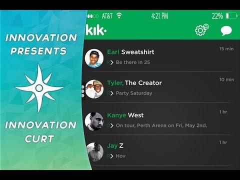 Kik Messenger UI Design By Innovation Curt