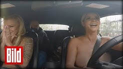 Micaela Schäfer hat ihren Führerschein - Nackt durch Berlin