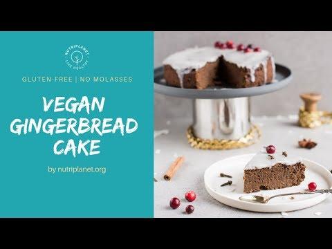 Gluten-Free Vegan Gingerbread Cake [Sugar-Free]