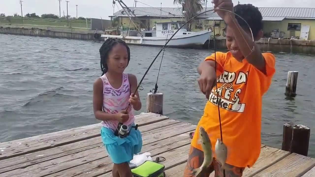 Fishing in Aransas Pass Bay Catching Piggy Perch