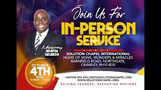 2nd Sunday Service, 9am | 20th September 2020 | Solution Chapel International