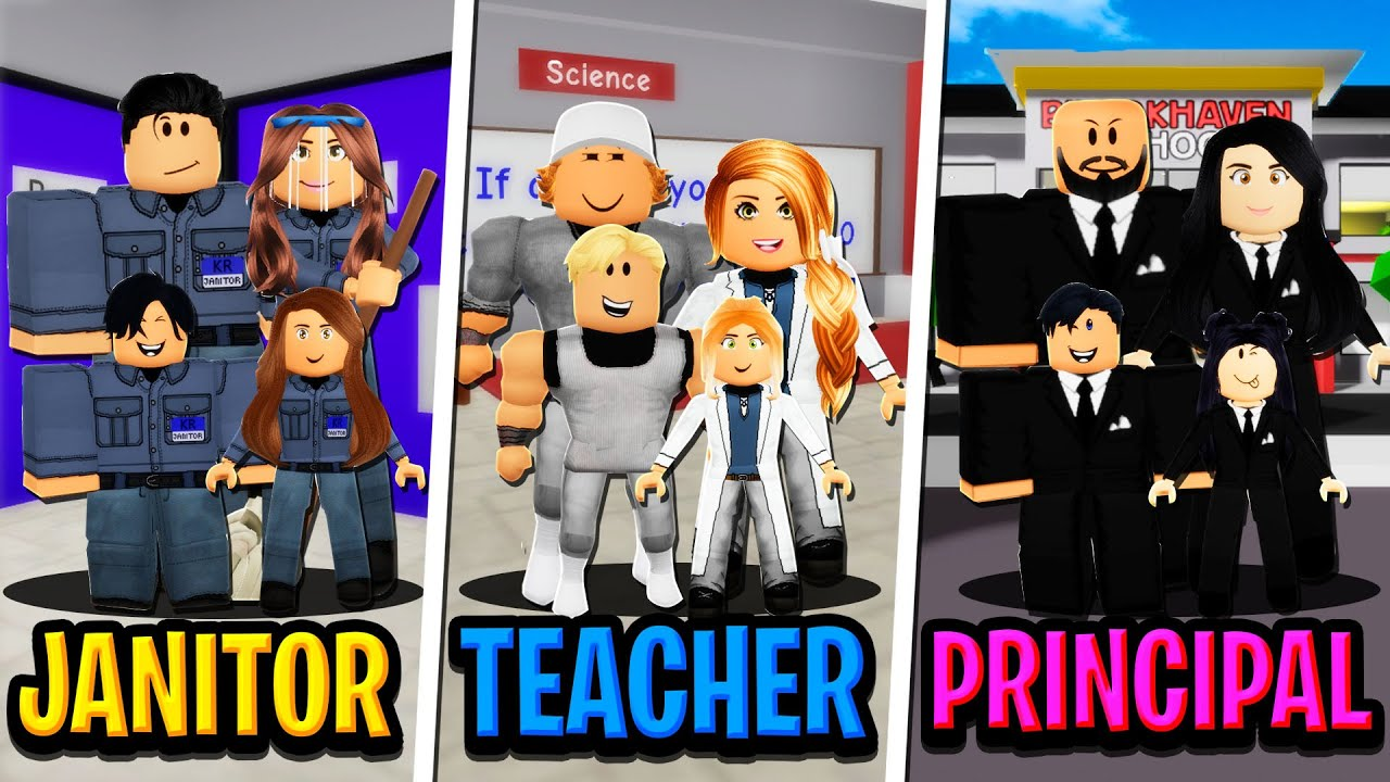 JANITOR PARENTS vs TEACHER PARENTS vs PRINCIPAL PARENTS in Roblox BROOKHAVEN RP!!