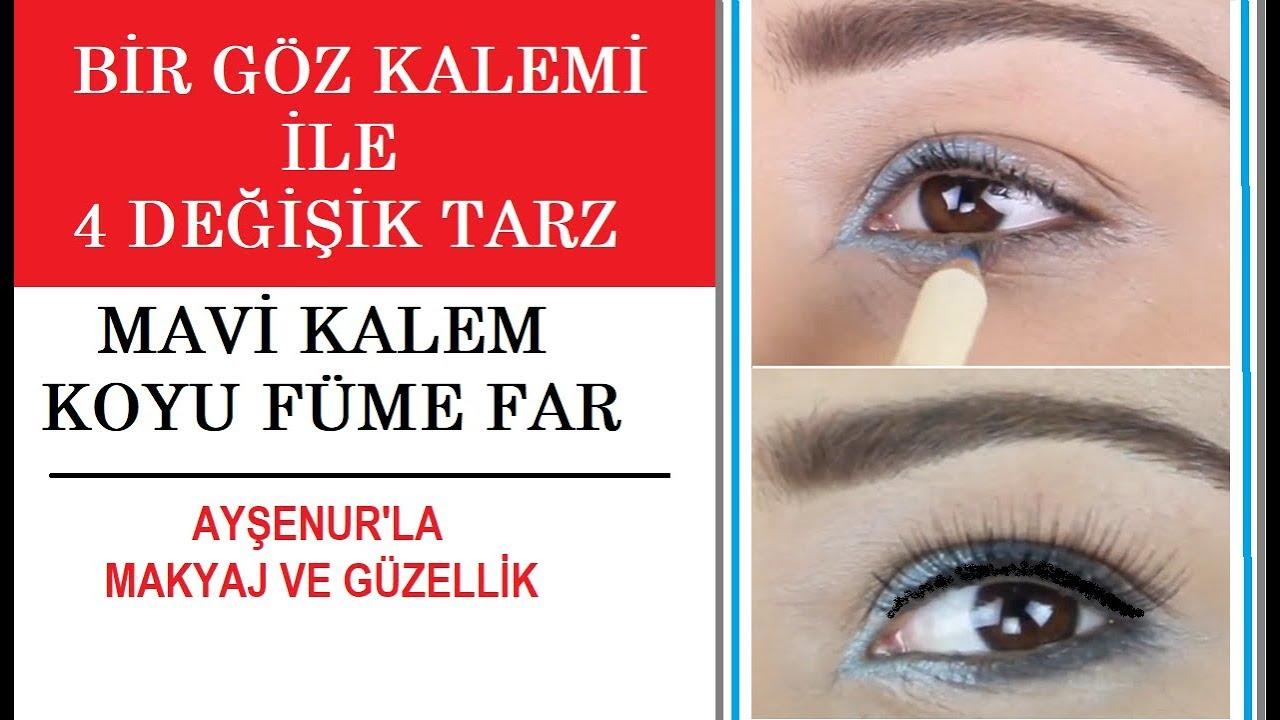 Bir kalemle 4  Farklı Tarz Göz Makyajı