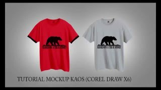 Corel Draw X6 Tutorial - Cara Membuat Mockup Baju Kaos Distro