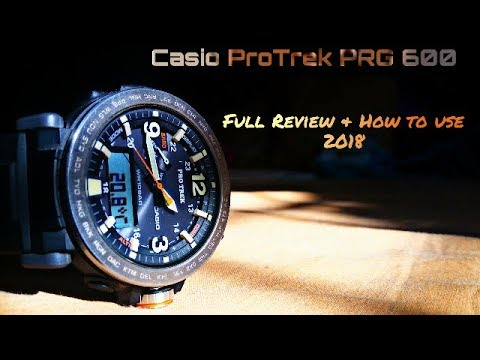 53c04ed7b Setting Casio ProTrek PRG-600 manual 5497 for use - YouTube