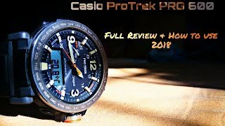 casio ProTrek PRG 600 full review and How to use 2018