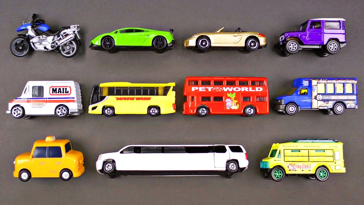 learning street vehicles for kids 2 hot wheels matchbox tomica cars and trucks tayo youtube