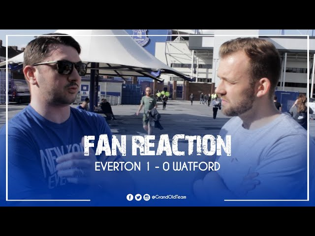 Everton 1-0 Watford - Watford Made It Difficult For Us