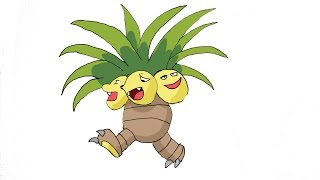 How To Draw Exeggutor (POKEMON)