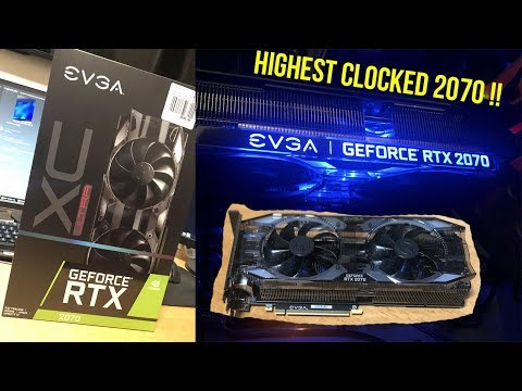EVGA RTX 2070 XC ULTRA GAMING Unboxing And RGB Test