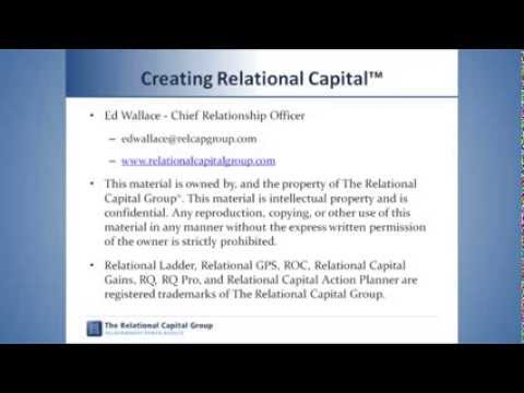 Relational Capital: Summary and Closing
