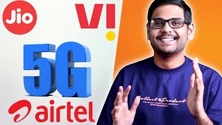5G in India - The Story of Jio, Airtel & Vodafone idea 🔥🔥🔥
