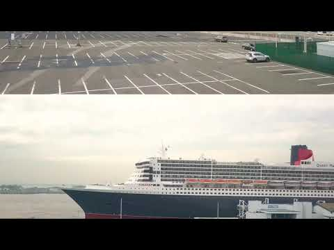 The Queen Mary2 docked at Redhook Brooklyn  by Dji Mavic Pro alpine white