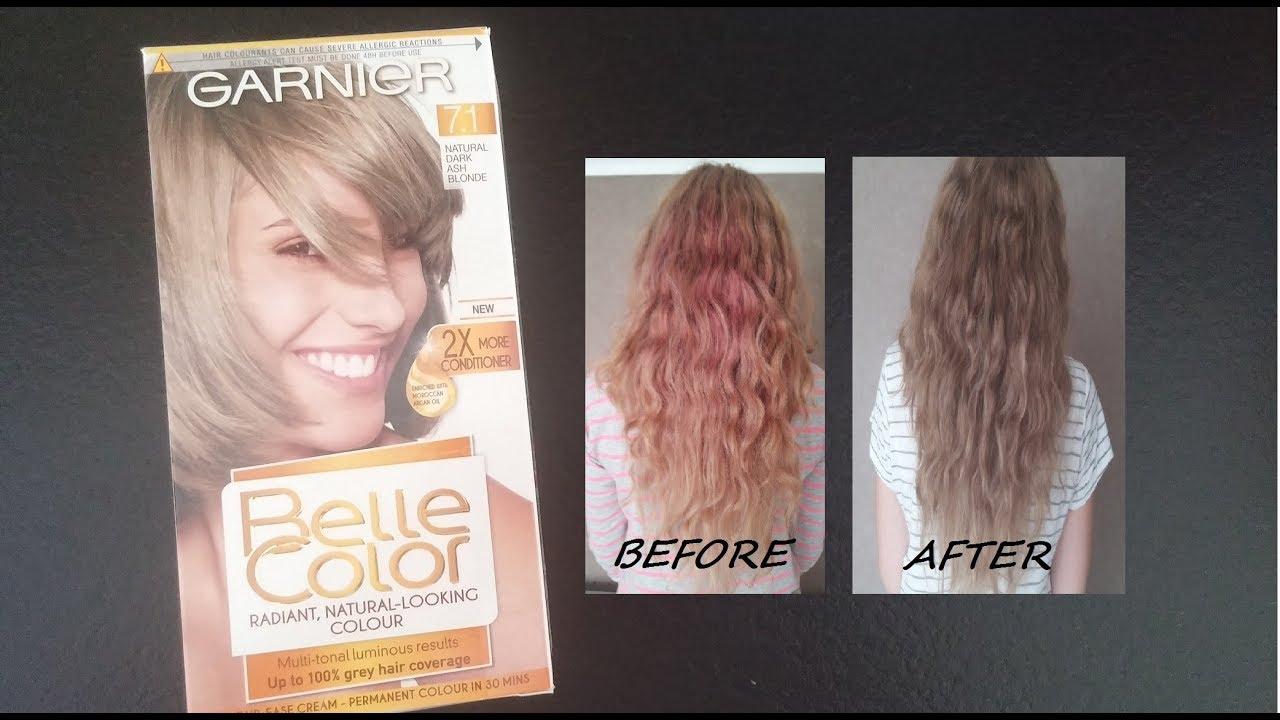 Garnier Belle Color 71 Natural Dark Ash Blonde Farbowanie W