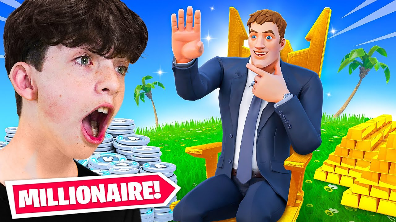 How to Be a BILLIONAIRE in Fortnite! - Tycoon Challenge