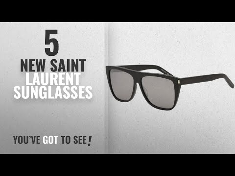 c4b3f089a6 Top 10 Saint Laurent Sunglasses   Winter 2018    Saint Laurent SL1 001  Black Grey SL1 Wayfarer