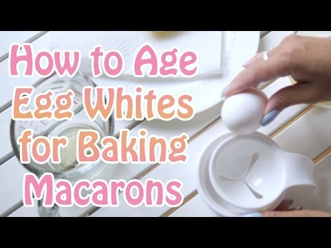 """How to """"Age"""" or Dehydrate Egg Whites for Baking Macarons"""