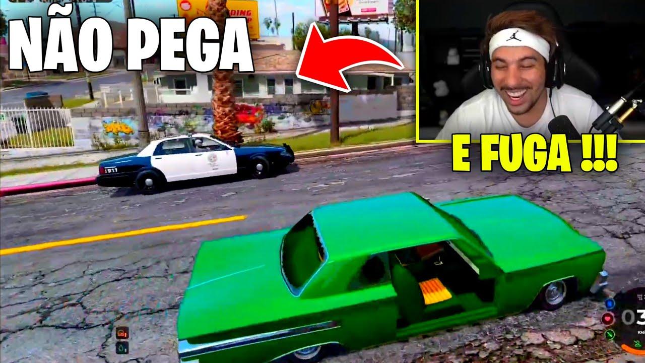 PIUZINHO DANDO FUGA NO GTA !!!