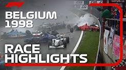 1998 Belgian Grand Prix: Race Highlights | DHL F1 Classic