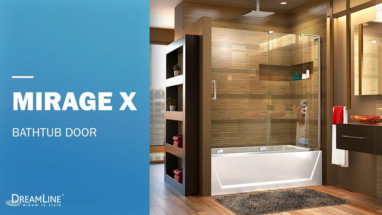 DreamLine Mirage X Frameless Tub Door | Sliding Opening