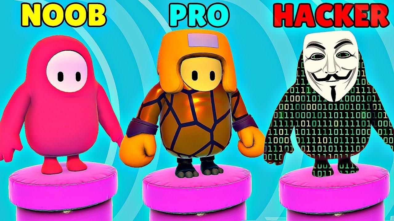 NOOB vs PRO vs HACKER - Fall Guys: Ultimate Knockout