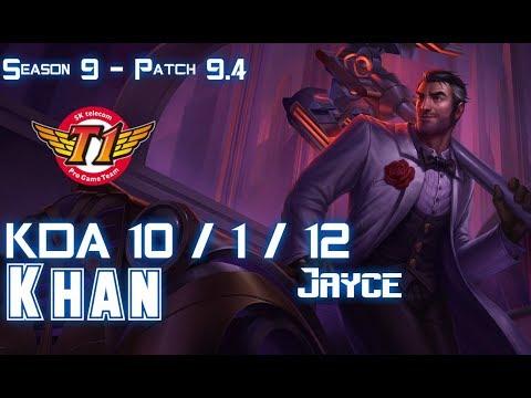 SKT Khan JAYCE vs YORICK Top - Patch 9.4 KR Ranked