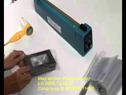 Máy ép bọc nylon dập tay, máy hàn túi nilon dập tay, máy ép túi bằng tay , 0909134877