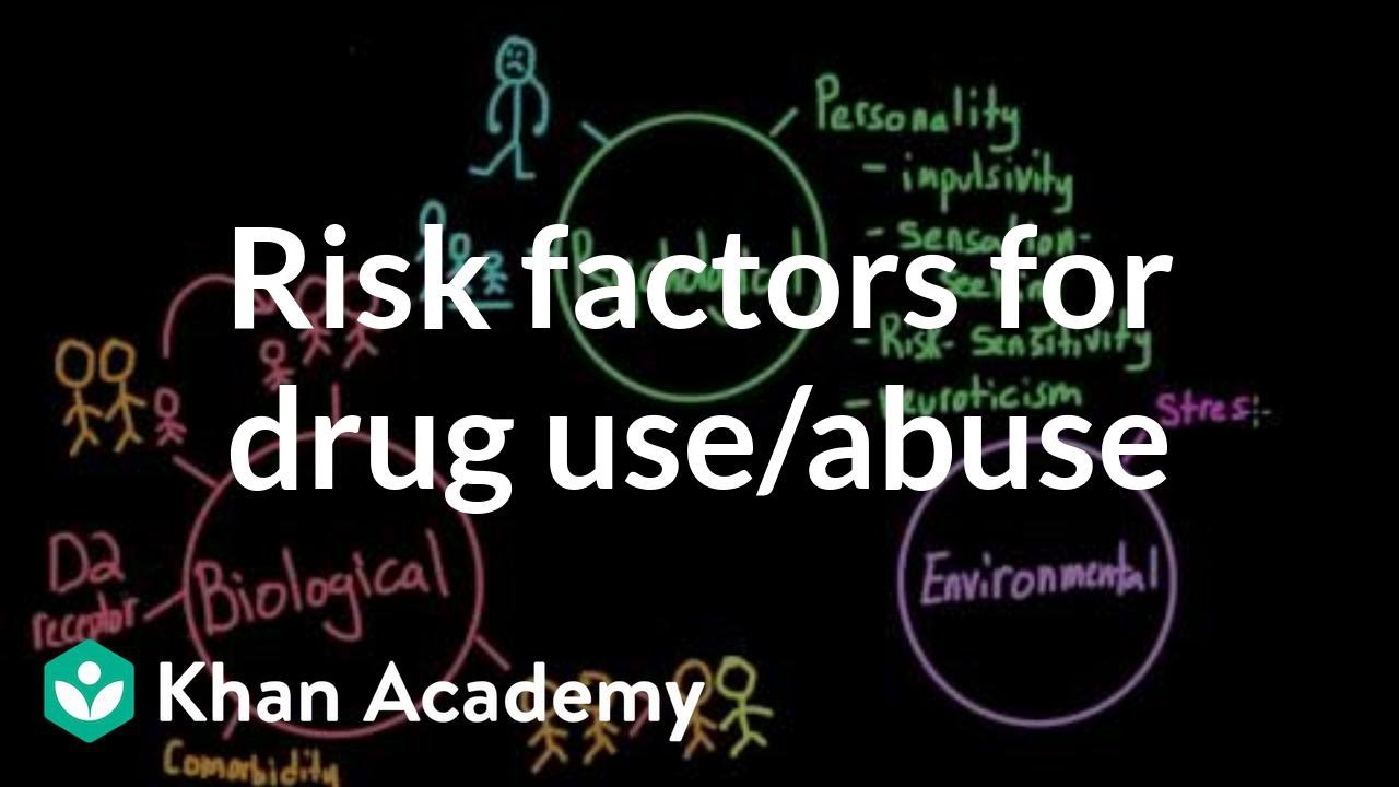 Risk factors for drug use and drug abuse (video) | Khan Academy