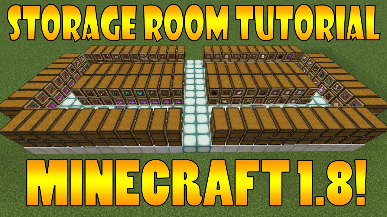 Minecraft Storage Room Tutorial Minecraft 1 8